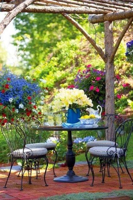 cadeira de ferro jardim