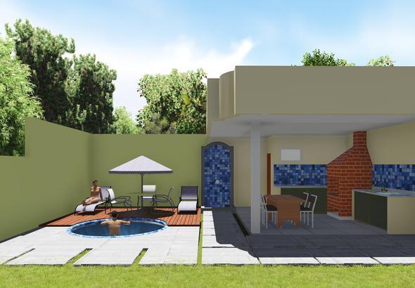 projeto com piscina