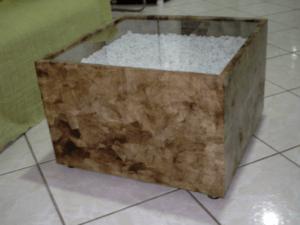 artesanato com filtro de café centro de sala de estar