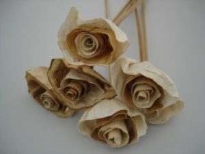 flores com artesanato com filtro de café