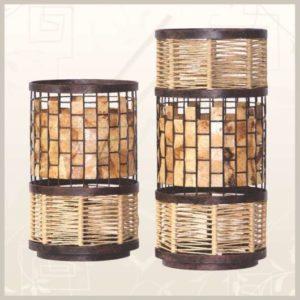 luminária com bambu com artesanato com filtro de café