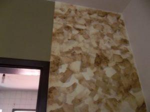 revestimento de parede com artesanato com filtro de café