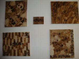 quadros com artesanato com filtro de café