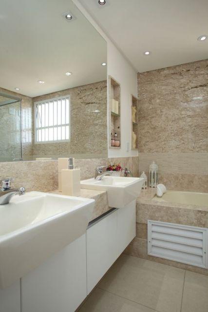 Banheiro bege combinações de cores e 52 fotos de ambientes lindos! -> Banheiro Pequeno Creme