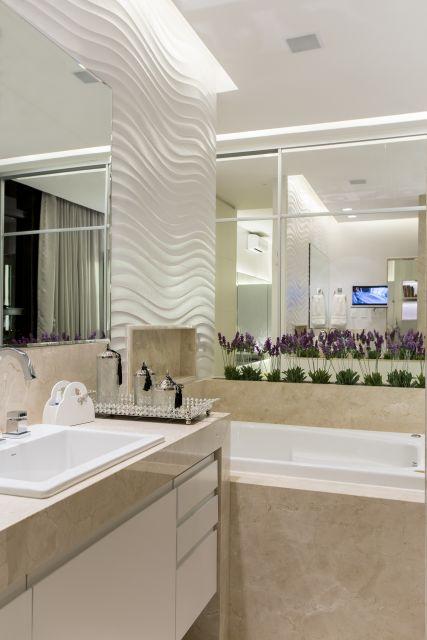 Banheiro bege combinações de cores e 52 fotos de ambientes lindos! -> Banheiro Decorado Com Revestimento Pastilhado