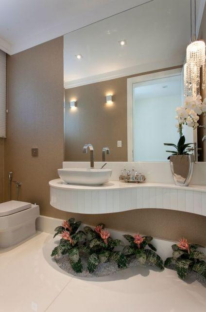 Banheiro bege combinações de cores e 52 fotos de ambientes lindos! -> Banheiro Decorado Bege