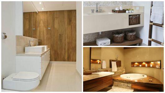 madeira banheiro bege
