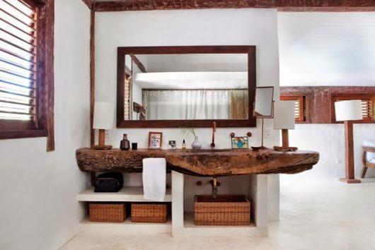 Banheiro Rústico Modelos, dicas para decorar e + de 40 fotos! -> Armario Banheiro Chique