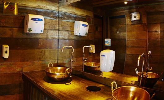 Banheiro Rústico Modelos, dicas para decorar e + de 40 fotos! -> Bojo Pia De Banheiro