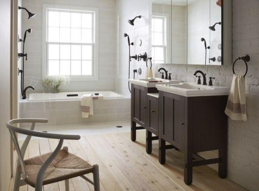 Banheiro Rústico Modelos, dicas para decorar e + de 40 fotos! -> Banheiro Moderno E Rustico