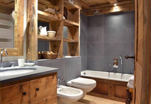 Banheiro Rústico Modelos, dicas para decorar e + de 40 fotos! -> Decoracao De Banheiros De Fazenda