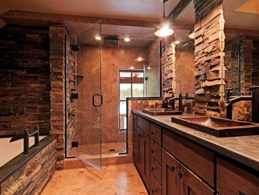Banheiro R Stico Modelos Dicas Para Decorar E De 40 Fotos