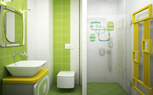 Banheiro Verde Melhores combinações e modelos para mudar! -> Banheiro Pequeno Branco E Verde