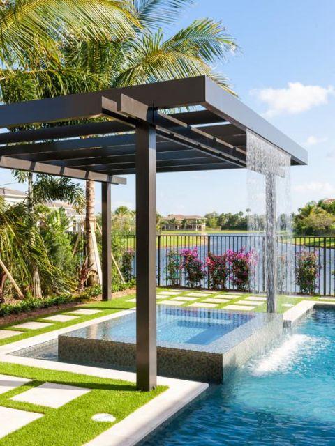 cascata-para-piscina-pergolado
