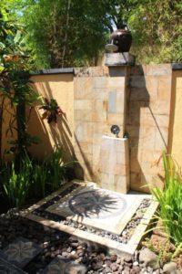 decoração externa chuveiro para piscina