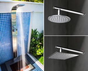 chuveiro para piscina de inox