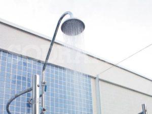 chuveiro para piscina de aço inox