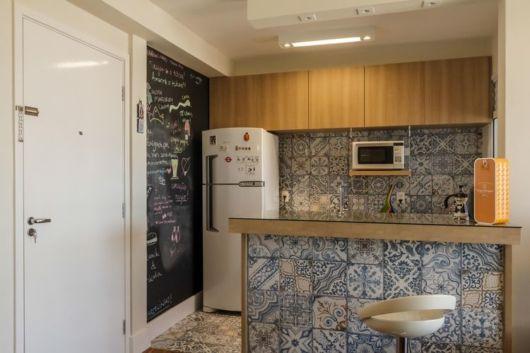 Cozinha Americana Pequena Como decorar e 60 modelos lindos # Decoracao De Cozinha Com Ladrilho Hidraulico