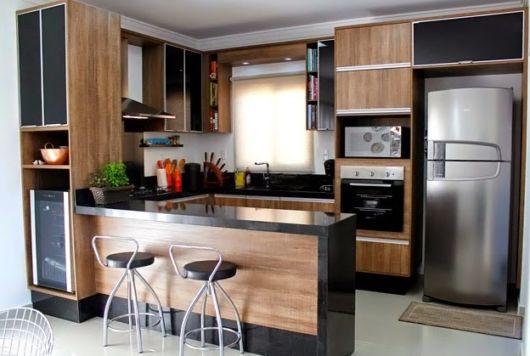 cozinha-americana-pequena-madeira