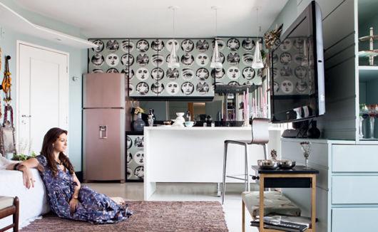 cozinha-americana-pequena-papel-de-parede-moderno