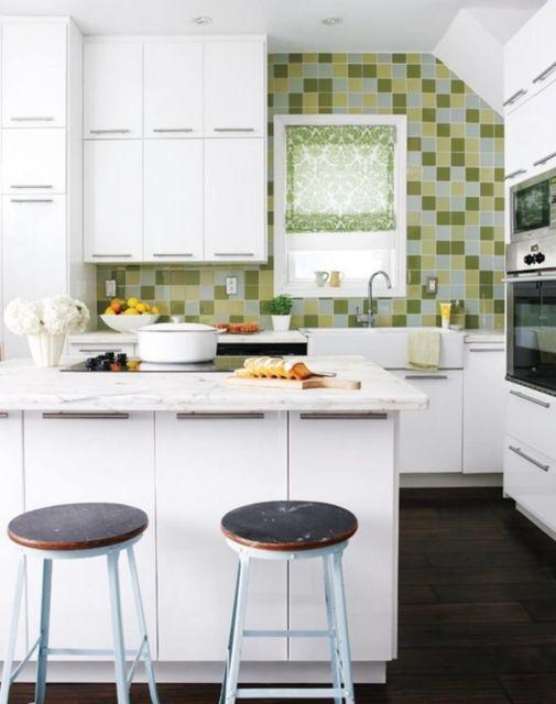 cozinha-americana-pequena-papel-de-parede-verde