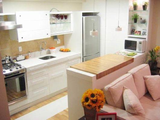 cozinha-americana-pequena-sala-pequena