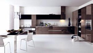 cozinha clean móveis cor de madeira