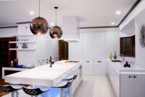 cozinha clean projeto com ilha