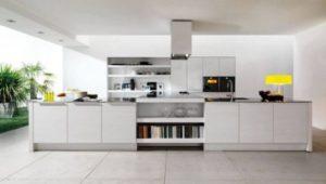 cozinha clean grande com ilha