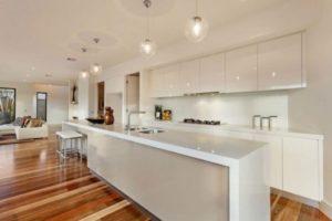 cozinha clean com ilha