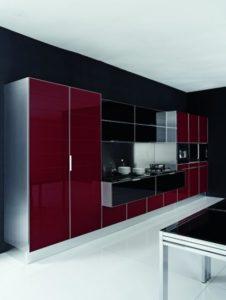 cozinha clean com cor vinho
