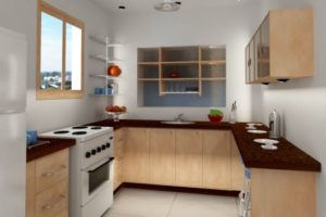 cozinha clean para apartamento pequeno