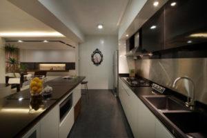 projeto de cozinha clean para apartamento