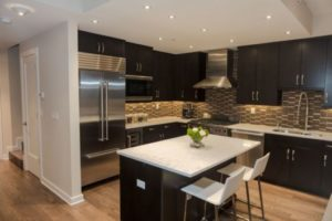 cozinha clean preta