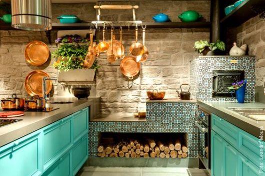 cozinha colorida moderna