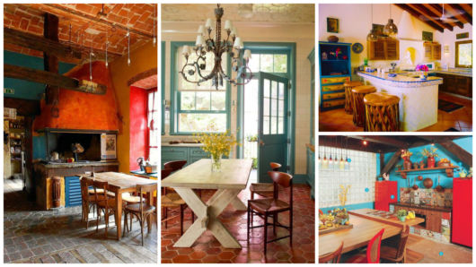 decoração rústica e colorida