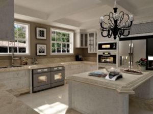 decoração clássica na cozinha decorar