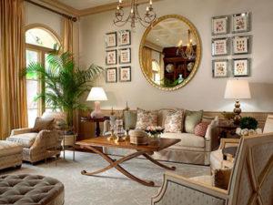 decoração clássica de sala de estar diva