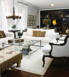 decoração clássica com apartamento pequeno