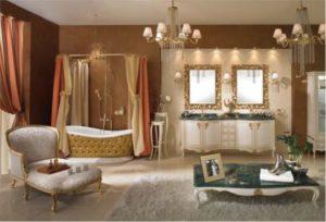 decoração clássica para banheiro moderno