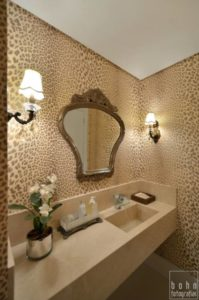 decoração clássica de lavabo