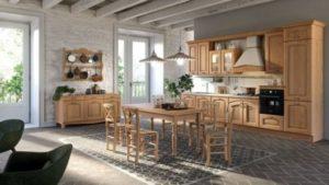 decoração clássica para cozinha de madeira