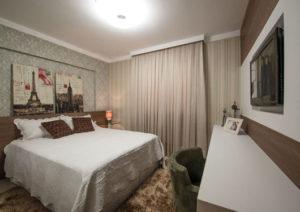 decoração clássica para quarto de casal pequeno