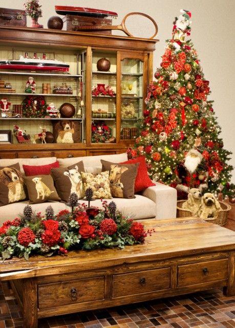 decoração verde e vermelho