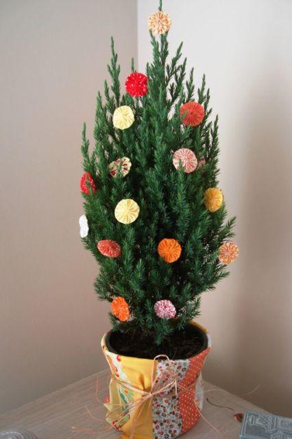 decoração natal fuxico