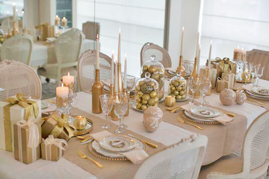 decoração simples mesa de jantar