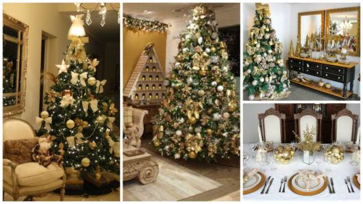 Decoração De Natal~ Decoracao Arvore De Natal Dourada