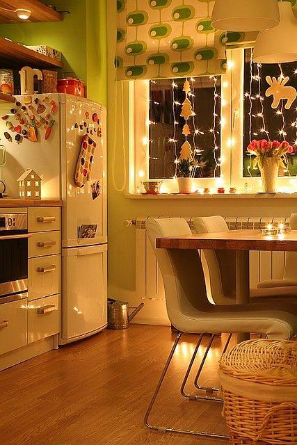 cozinha decorada luzinhas