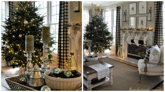 decoração prata e branca