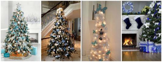 decoração azul natal